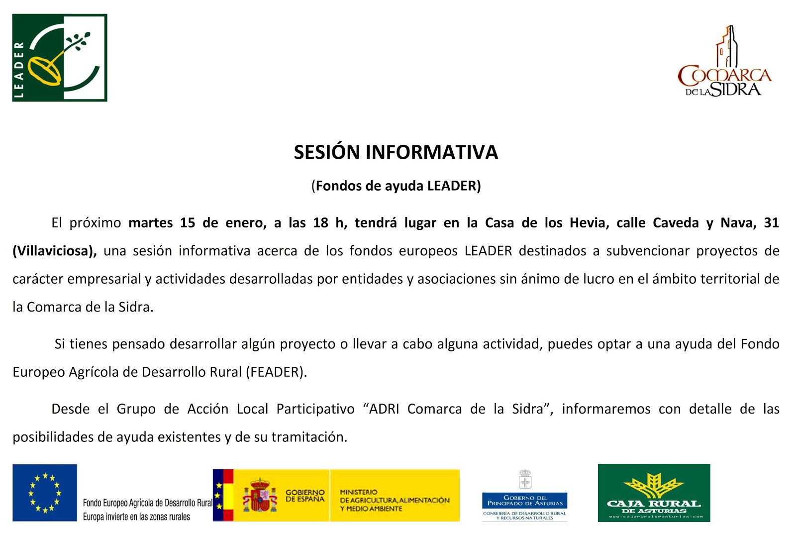 Nota de prensa: A. de Vecinos La Parpayuela-Quintes