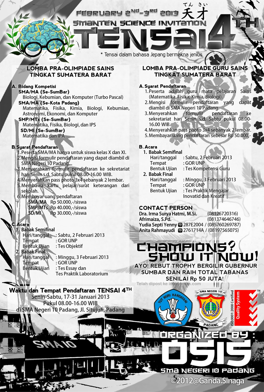 TENSAI 4th (SMANTEN Science Invitation) 2013