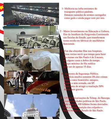 AS 5 Causas para os manifestantes do Estado de São Paulo