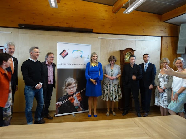 Queen Maxima of The Netherlands visited the MFC Het Kristal a new mulitfunctional center in Apeldoorn