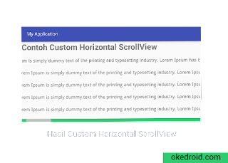 Hasil Custom ScrollView Horzontal