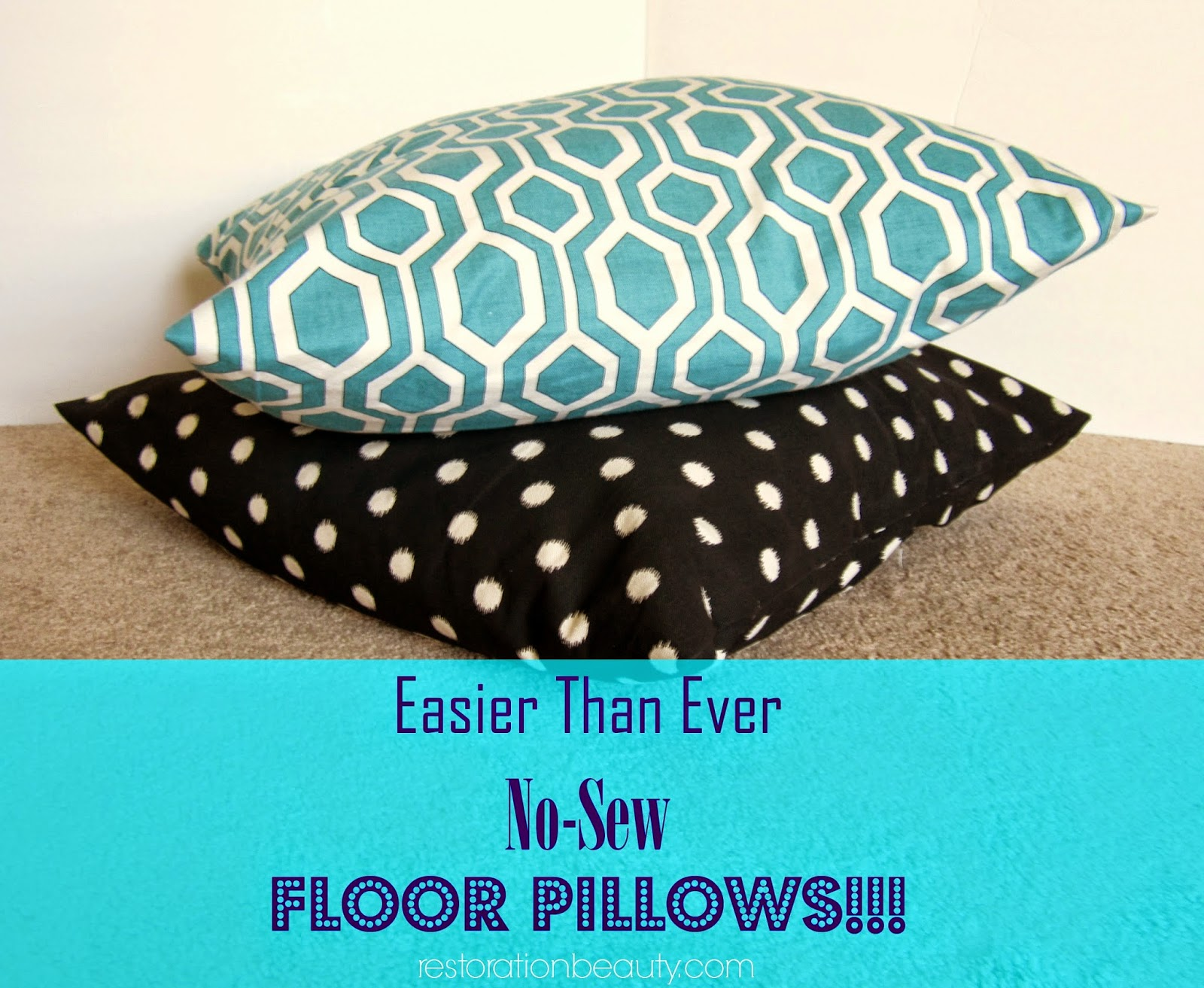 Restoration Beauty Easier Than Ever NoSew Floor Pillows