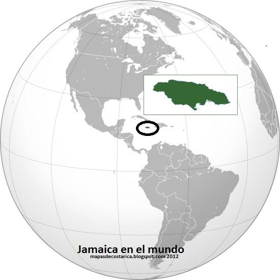 Localización de Jamaica en el Mundo