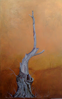 metallic painting, tree