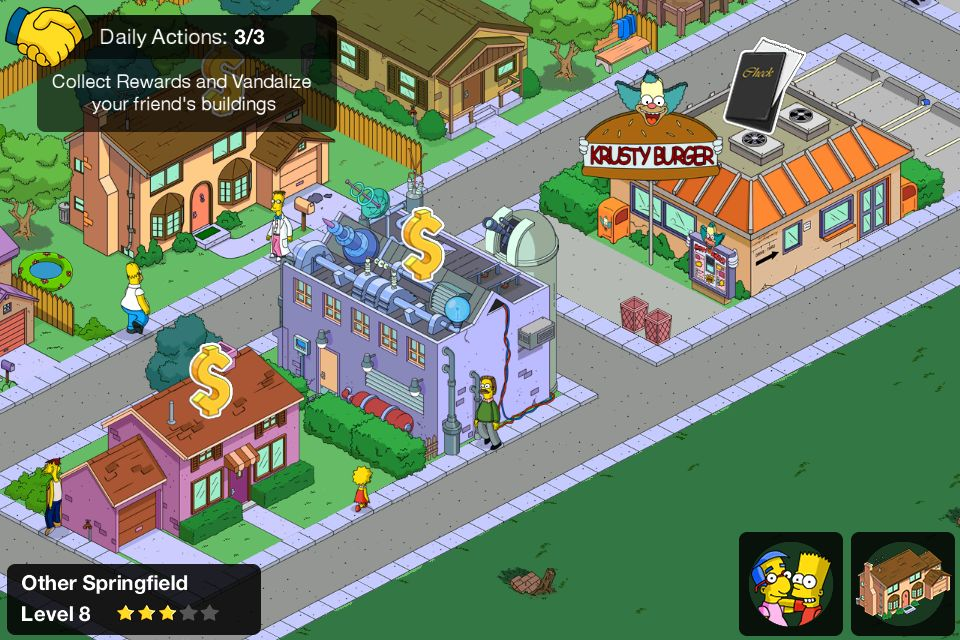 The Simpsons Tapped Out is one of the best parody planning games out