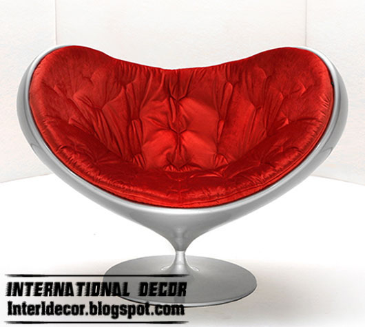 Silver Heart Chair With Red Pillow, Fiberglass Chair Design, Romantic Chair  2013