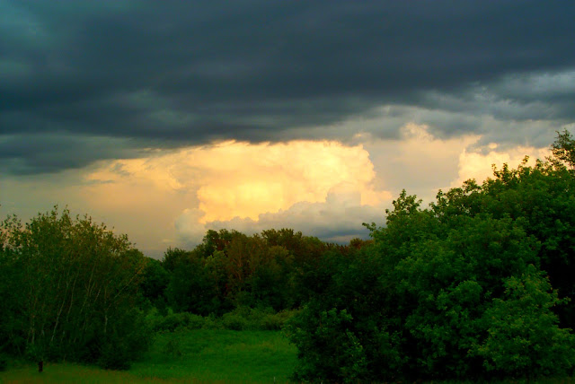 Early digital image of a thunderstorm in Ramsey Anoka Minnesota by Kathleen Riley Circa 2011