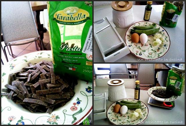 carbonara vegetariana con zucchine e pizzochheri