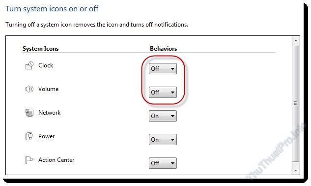 Cách hiển thị hoặc ẩn biểu tượng trên thanh Taskbar Windows