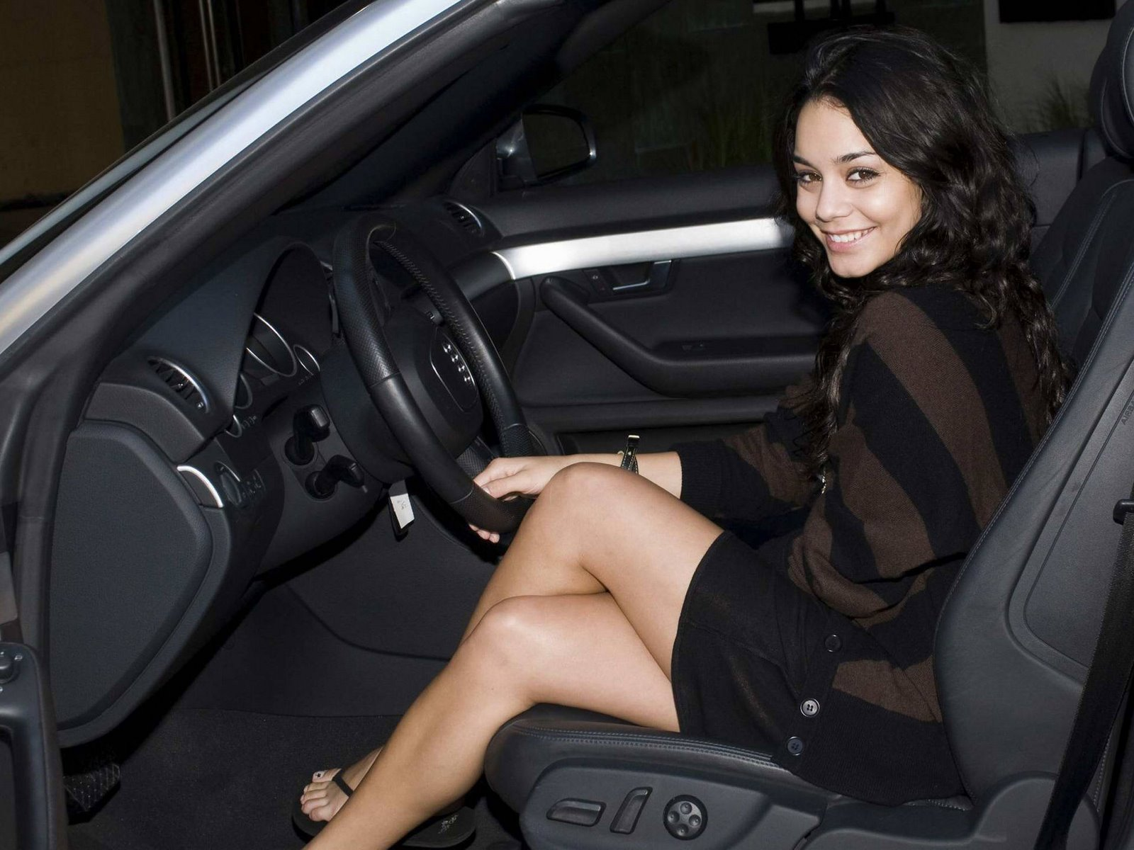 Vanessa Hudgens in Car
