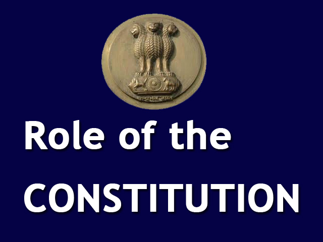 the role of the constitution Role and responsibilities the constitutional court is the final authority in the  republic of kosovo for the interpretation of the constitution and the compliance  of.