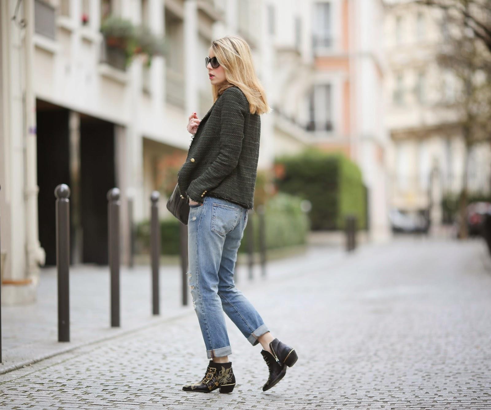 boyfriend jeans, levi's 501, zara, streetstyle, chloé, givenchy, onica vinader, streetstyle