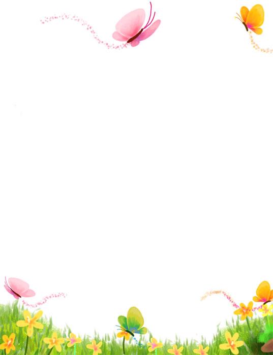 Bordes decorativos con flores para tarjetas - Imagui