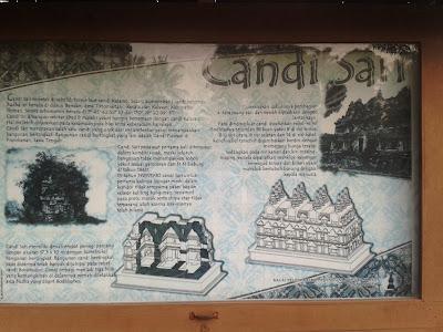 Tulisan sejarah Candi Sari