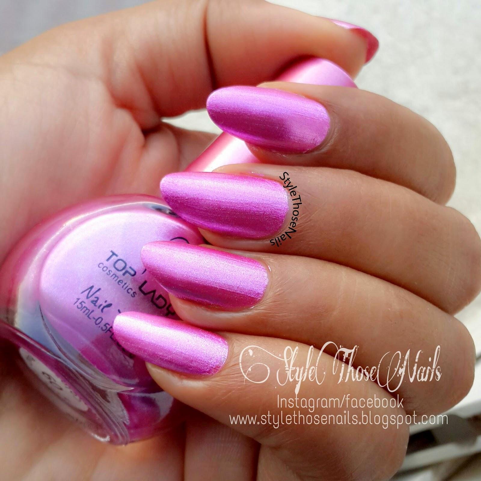 Pinkish White Nail Polish: Style Those Nails: Metallic Pink Zebra Nailart
