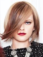 pelo elegante mujer