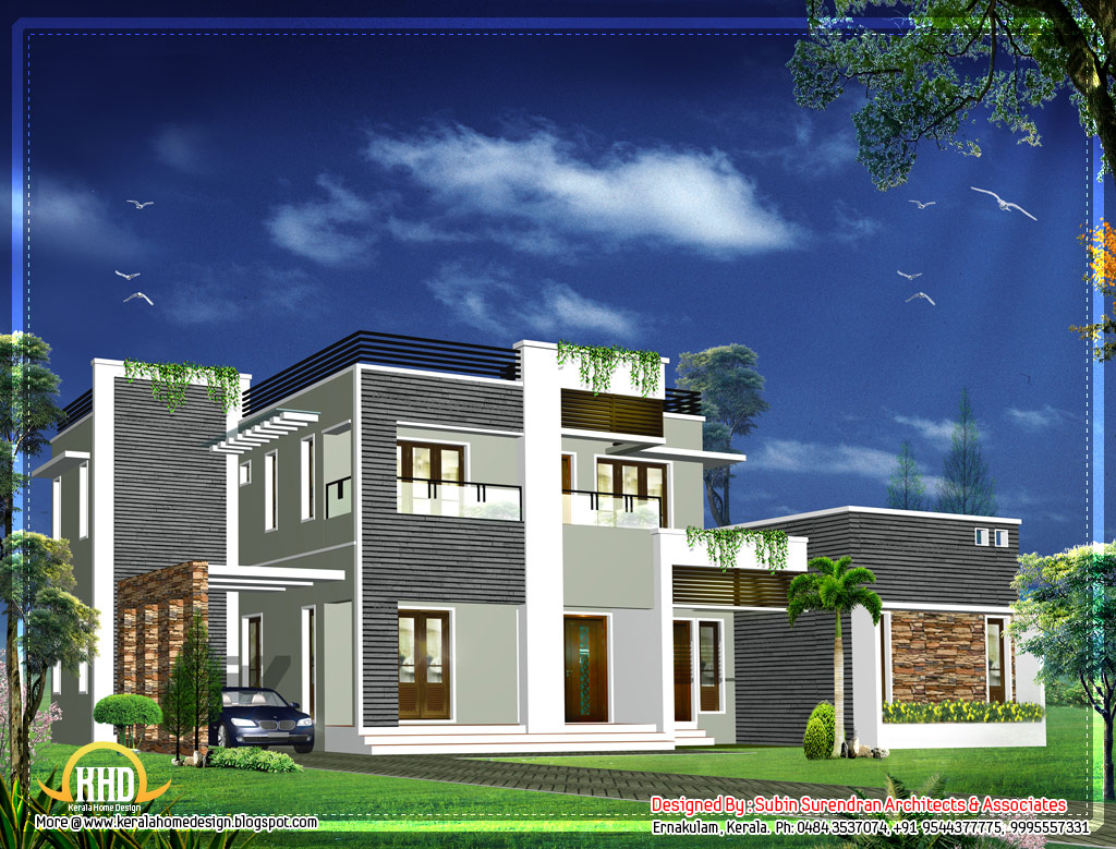 Modern kerala home design 2012 sq ft home appliance for Modern house in kerala