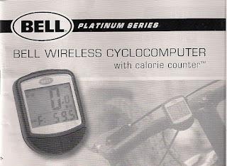Bell 15 function wireless speedometer manual