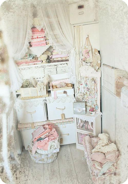 Olivia 39 s romantic home dollar bin organizing for Shabby chic craft room