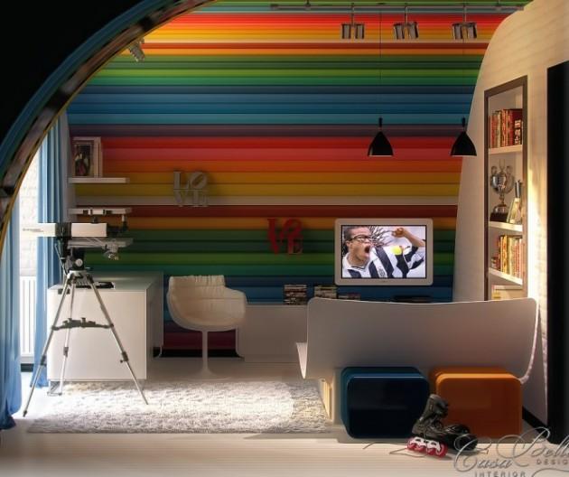 Kamar Tidur Anak Warna Warni Seperti Lollipop