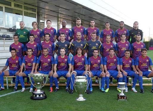 FC Barcelona  Plantilla Temporada 2011 2012   Foto Oficial De La UEFA