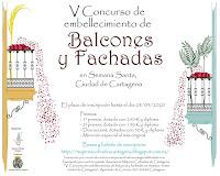 V Concurso de embellecimiento de balcones y fachadas Semana Santa Ciudad de Cartagena 2020