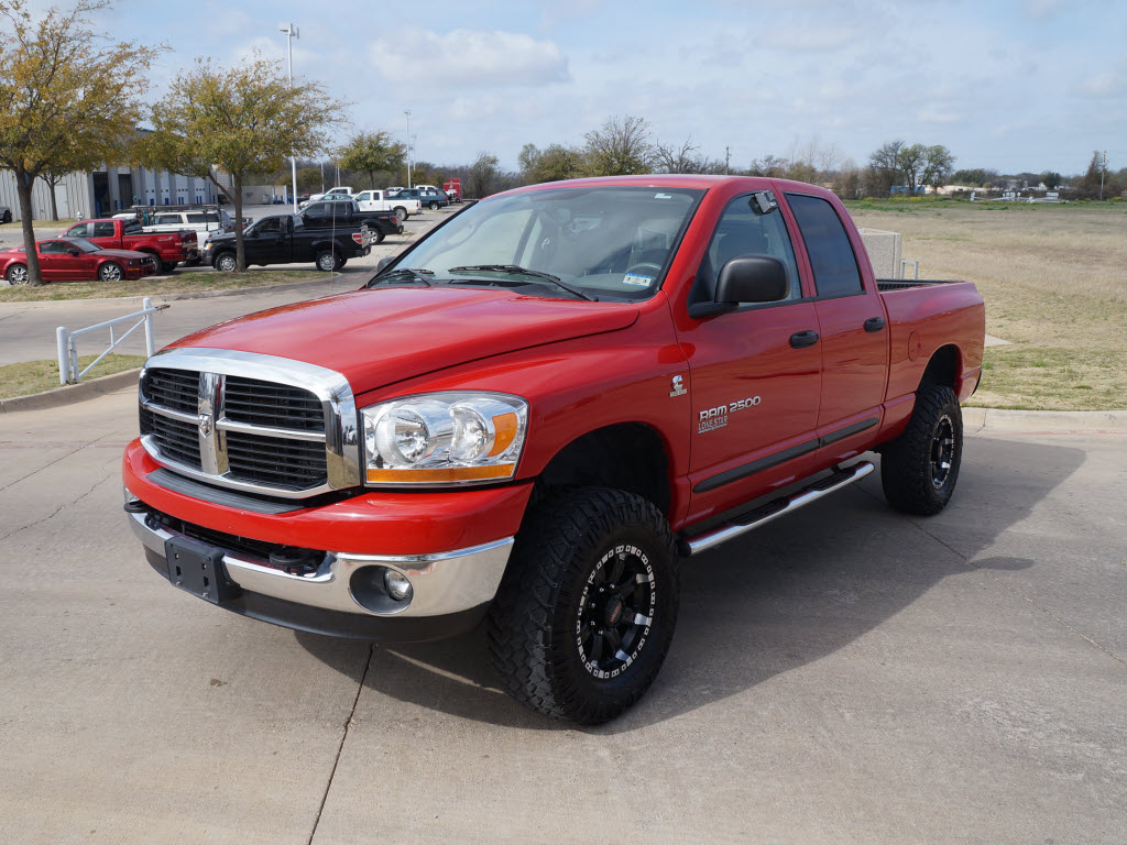 2006 dodge ram 2500 in red with 91 310 miles slt 4 4 nav and leather 29 991 granbury tx. Black Bedroom Furniture Sets. Home Design Ideas