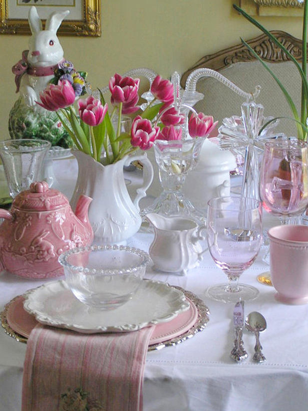 Interior Design Easter Table Settings And Centerpieces