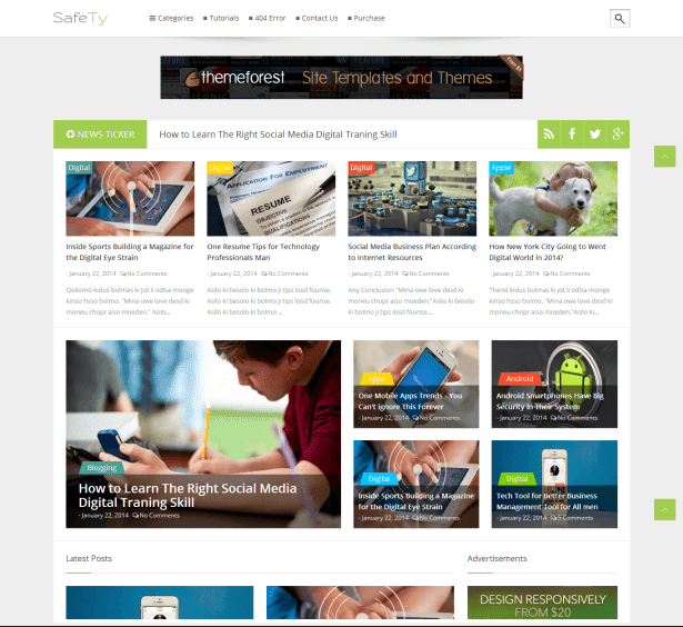 Safety - Responsive Blogger Template