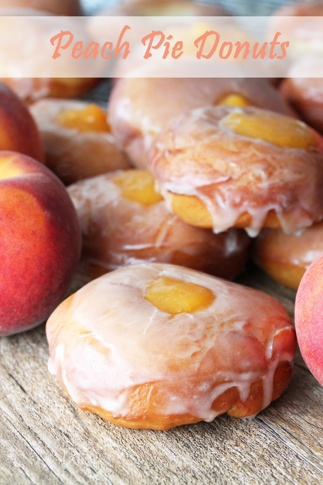 The Stay At Home Chef: Peach Pie Donuts