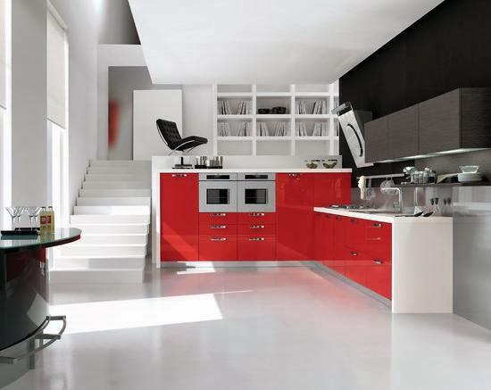 contoh model lemari gantung dapur minimalis modern 2014