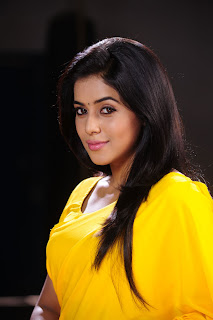 Actress Poorna in Pictures in Yellow Saree from Telugulo Naaku Nachani Padam Prema Telugu Movie  0001.jpg