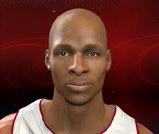 NBA 2K13 Ray Allen Cyber Face