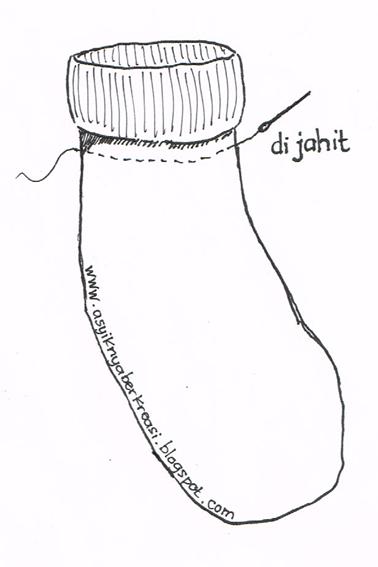 Membuat boneka kaos kaki