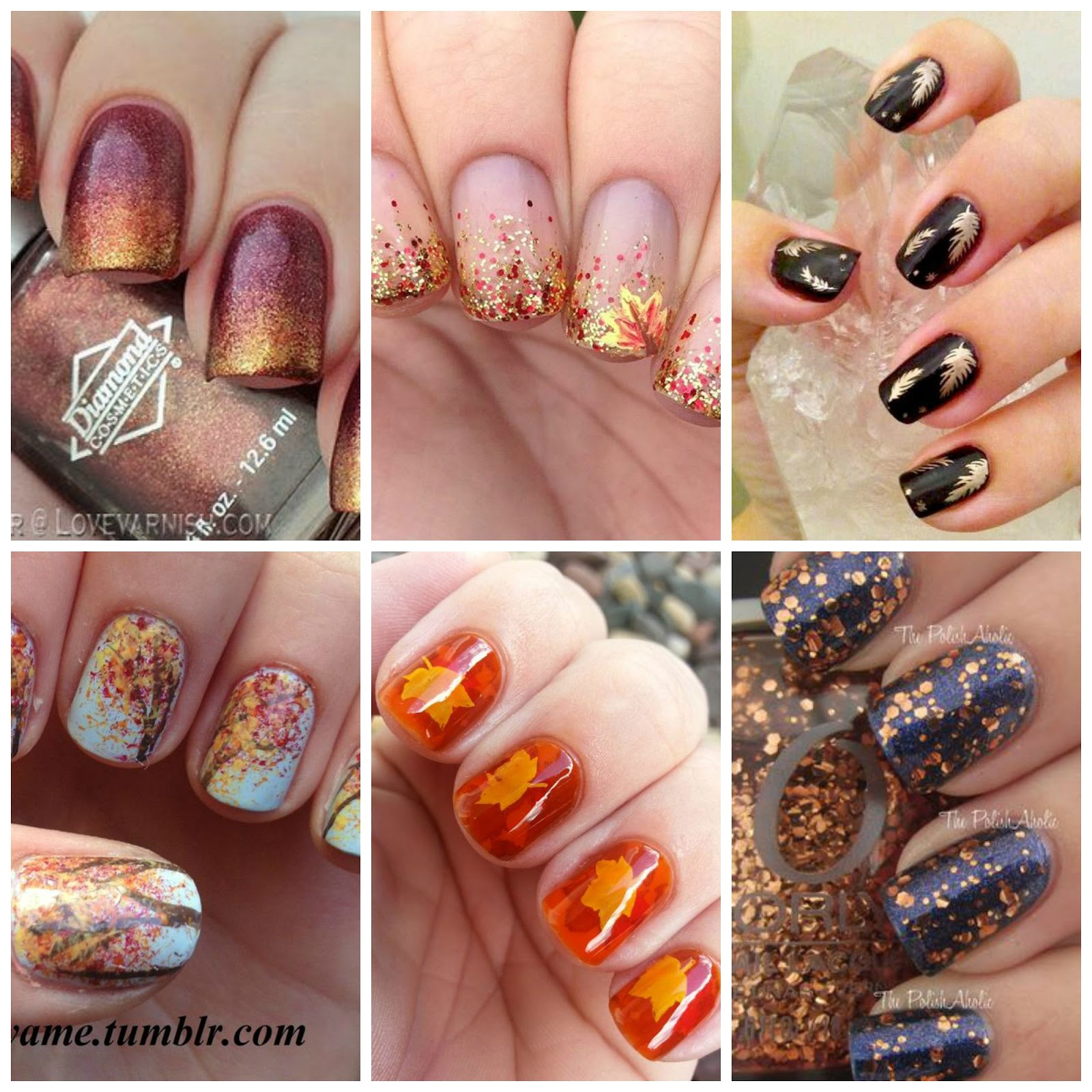 Last Autumn Nail Art Of The Year: Manicure Monday - Autumn Nails Inspiration