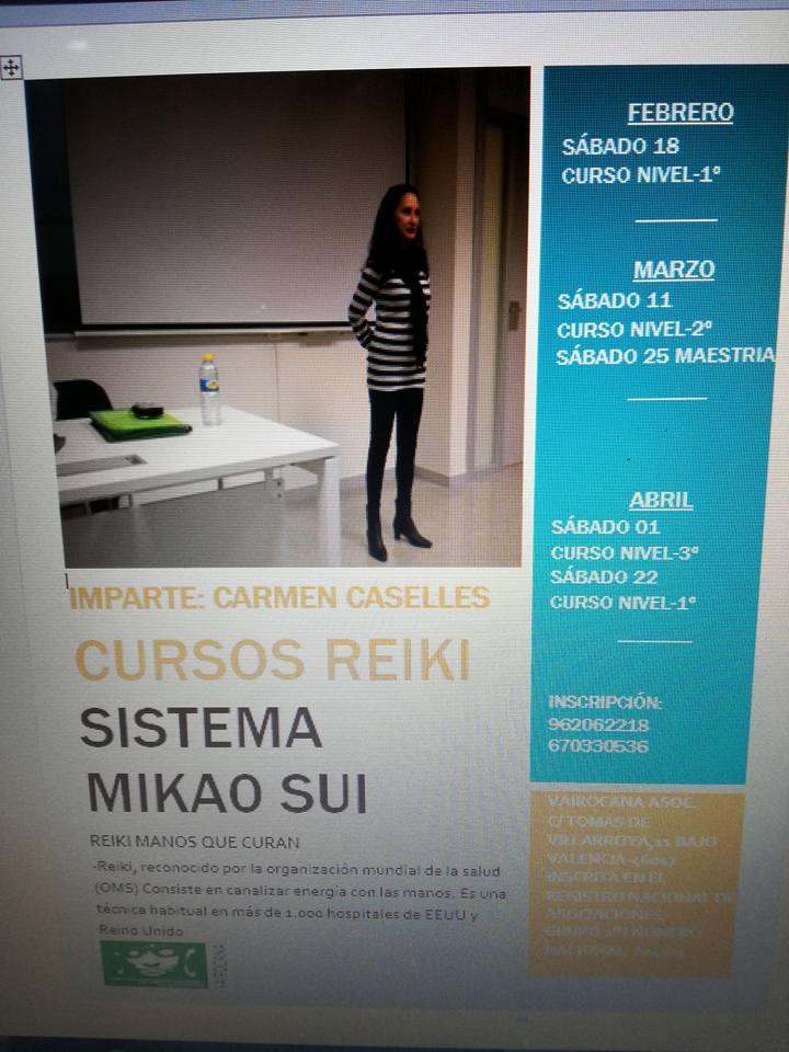 CURSOS DE REIKI 2017