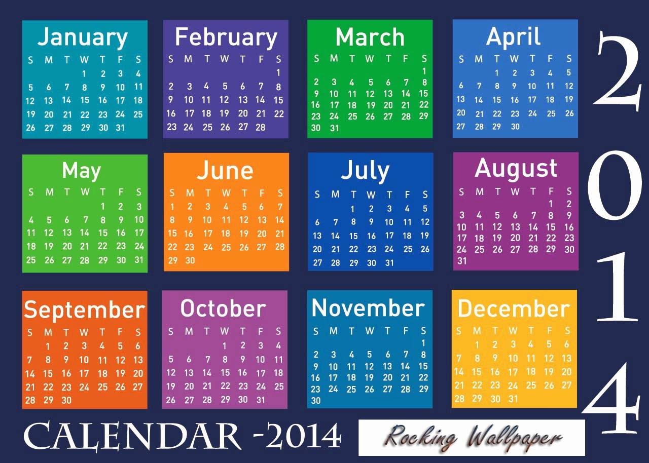 Multiy Colors Calendar