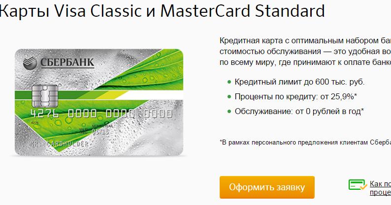 Как сделать кредитную карту сбербанк 871