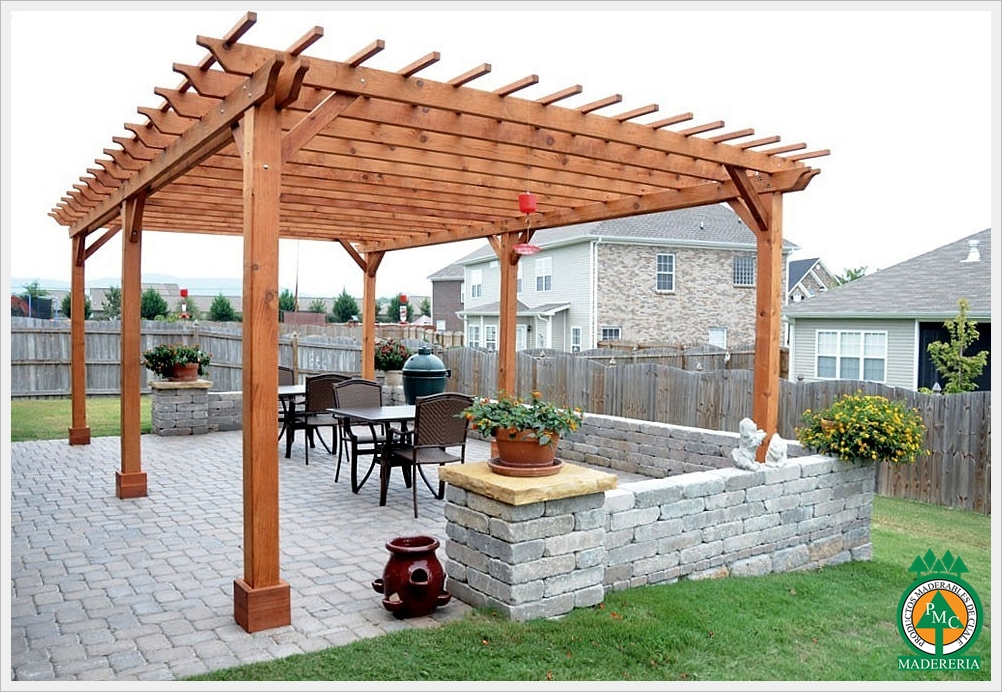 Como hacer una pergola barata awesome fabulous como - Construir pergola de madera ...