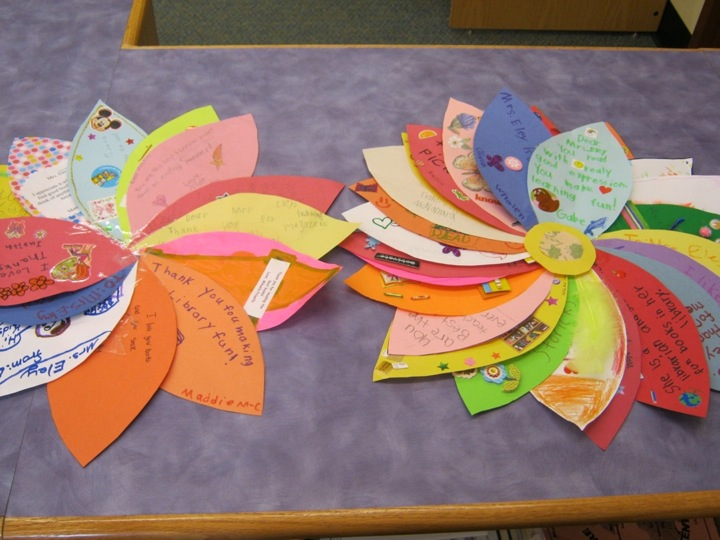 Classroom Thank You Ideas ~ Hillside elementary school library thank you pto and