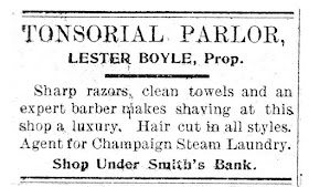 Tonsorial Parlor 1901 ?? Ad