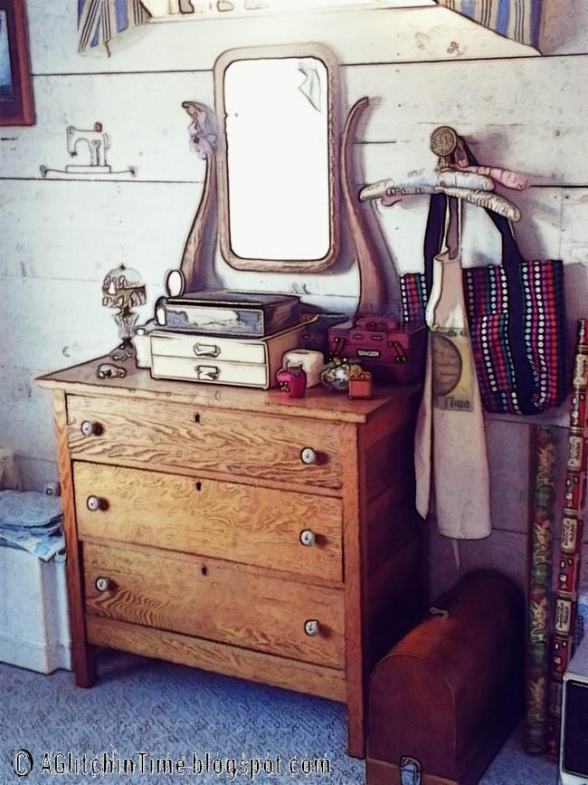 In the Studio-- Antique Oak Dresser
