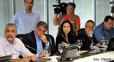 Conceição Rabha reunida com autoridades em 4 dejaneiro