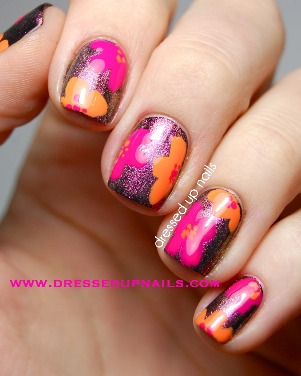 Dressed Up Nails: Floral nail art & swatches with Models Own