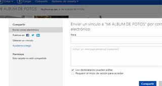 compartir fotos en Skydrive