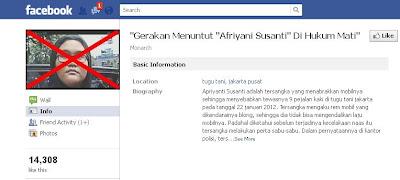 Afriyani Susanti Facebook
