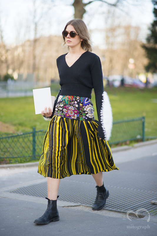 Stylist Megan Gray at Paris Fashion Week 2015-2016 PFW