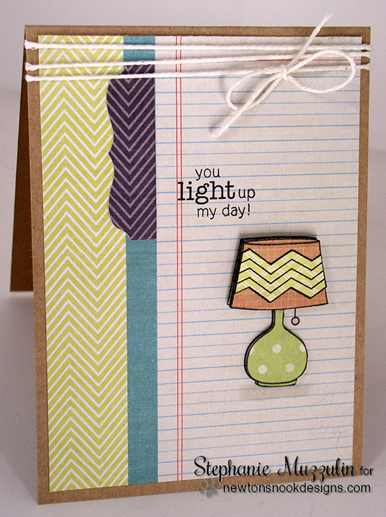 Light up your day card by Stephanie Muzzulin for Newton's Nook Designs | Around the House Stamp set