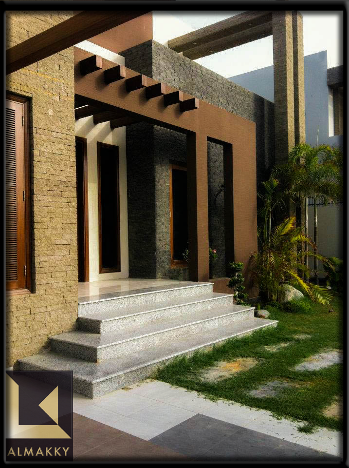 Front Elevation Materials : Almakky builders constructed modern contemporary home