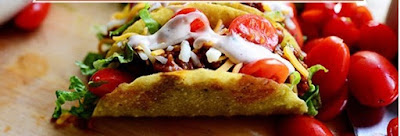 Taco with meat and vegetables recipe